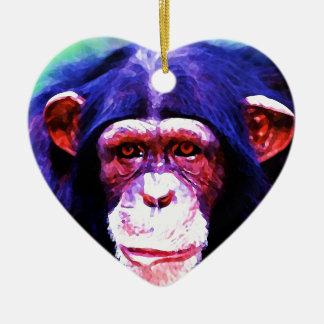Chimpanzee Ceramic Ornament