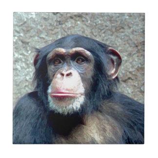 Chimpanzee Ceramic Tile