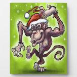 Chimpanzee Christmas Display Plaques