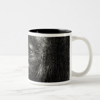 Chimpanzee Disappointed and Sulky Two-Tone Coffee Mug