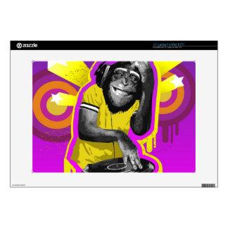 """Chimpanzee DJ 15"""" Laptop Skins"""