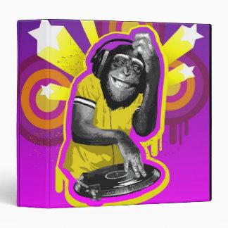 Chimpanzee DJ 3 Ring Binder