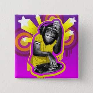 Chimpanzee DJ Button