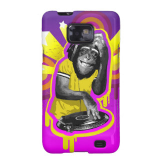 Chimpanzee DJ Galaxy S2 Case