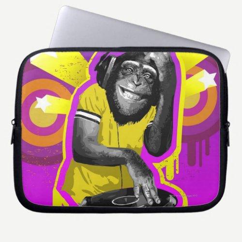 Chimpanzee DJ Laptop Sleeve