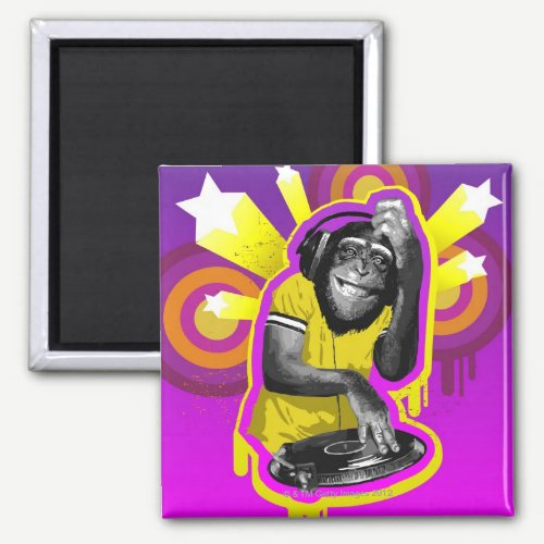 Chimpanzee DJ Magnet