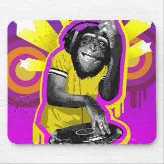 Chimpanzee DJ Mouse Pad