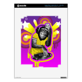 Chimpanzee DJ Skins For iPad 3