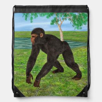 Chimpanzee Drawstring Bag