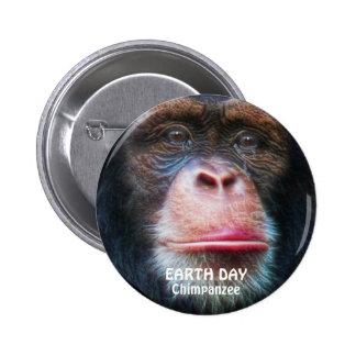 CHIMPANZEE EARTH DAY Button
