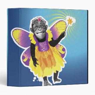 Chimpanzee Fairy 3 Ring Binder