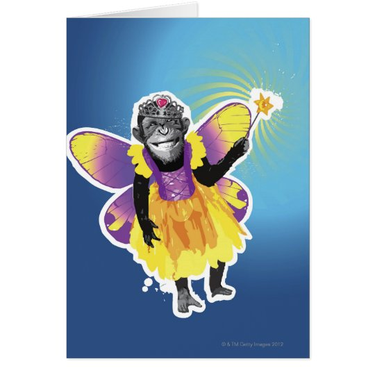 Chimpanzee Fairy Card