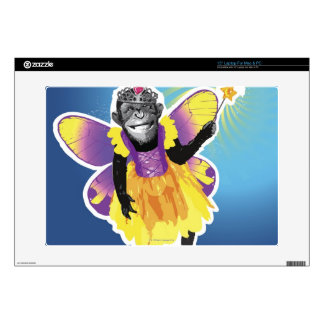 """Chimpanzee Fairy Decal For 15"""" Laptop"""