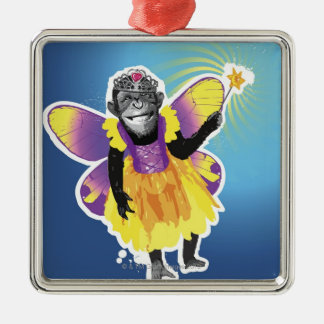 Chimpanzee Fairy Christmas Tree Ornaments
