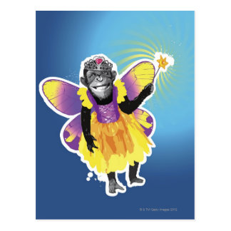 Chimpanzee Fairy Postcard