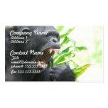 Chimpanzee Fangs Business Cards
