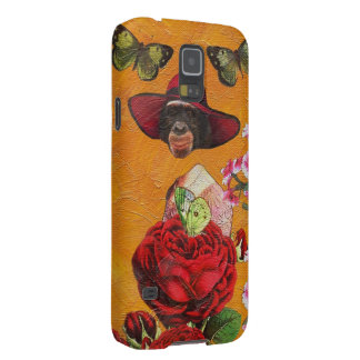 Chimpanzee Floral Butterfly Collage Galaxy S5 Cover