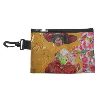 Chimpanzee Flowers Butterfly Grunge Collage Accessories Bags