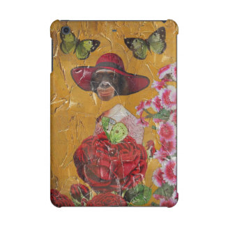 Chimpanzee Flowers Butterfly Grunge Collage iPad Mini Cover