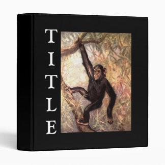 Chimpanzee Hanging From Tree 3 Ring Binder
