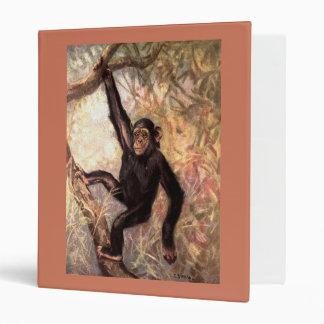 Chimpanzee Hanging From Tree Binder