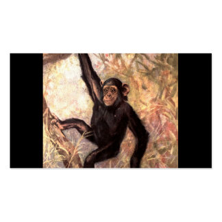 Chimpanzee Hanging From Tree Business Card