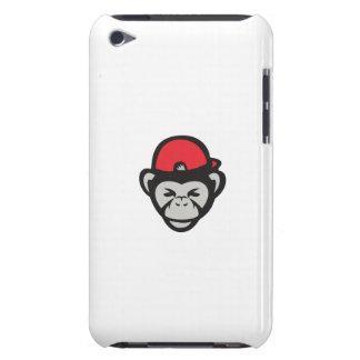 Chimpanzee Head Baseball Cap Retro iPod Case-Mate Case