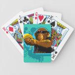 Chimpanzee Holding a Banana Bicycle Playing Cards