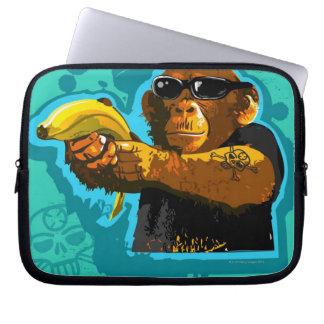 Chimpanzee Holding a Banana Computer Sleeve