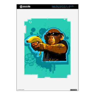 Chimpanzee Holding a Banana Decals For iPad 3