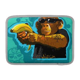 Chimpanzee Holding a Banana MacBook Air Sleeve