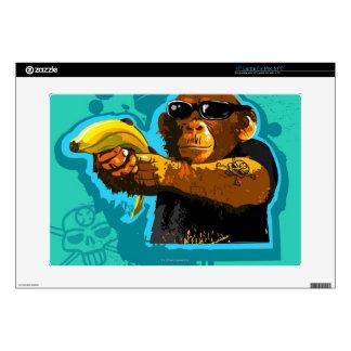 "Chimpanzee Holding a Banana Skins For 15"" Laptops"
