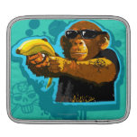 Chimpanzee Holding a Banana Sleeve For iPads