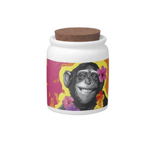 Chimpanzee Hula Dancing Candy Dish