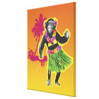 Chimpanzee Hula Dancing Canvas Print