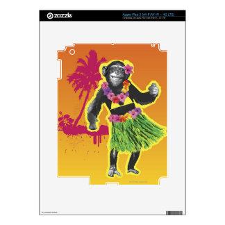 Chimpanzee Hula Dancing Decal For iPad 3