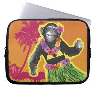 Chimpanzee Hula Dancing Laptop Sleeve