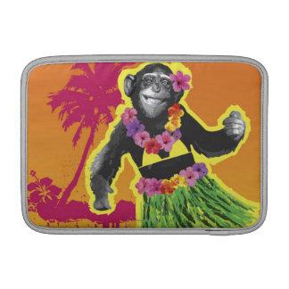 Chimpanzee Hula Dancing MacBook Sleeves