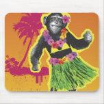 Chimpanzee Hula Dancing Mouse Pad