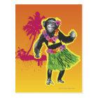 Chimpanzee Hula Dancing Postcard
