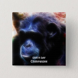 CHIMPANZEE II EARTH DAY Button