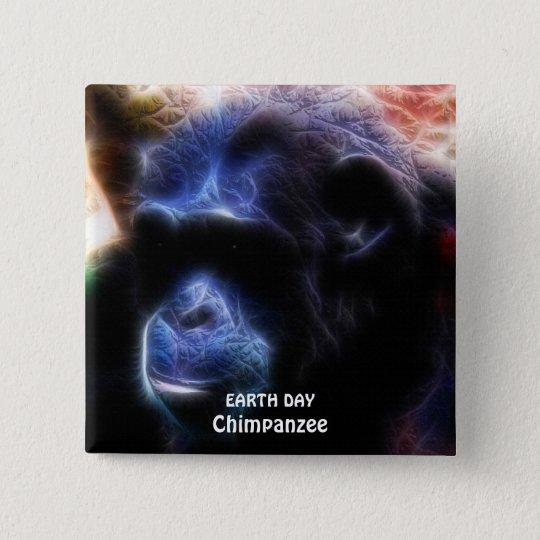 CHIMPANZEE II EARTH DAY Button