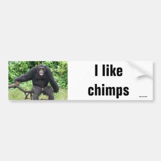 Chimpanzee in Africa Bumper Stickers