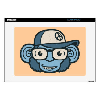 """Chimpanzee in Blue 15"""" Laptop Skins"""