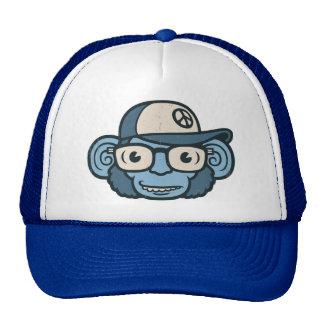 Chimpanzee in Blue Mesh Hat