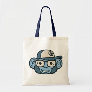 Chimpanzee in Blue Tote Bag