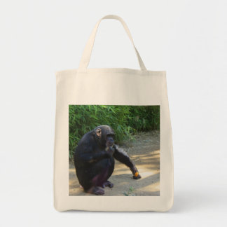 Chimpanzee in Deep Thought Tote Bag