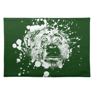 Chimpanzee in White Splash Cloth Placemat