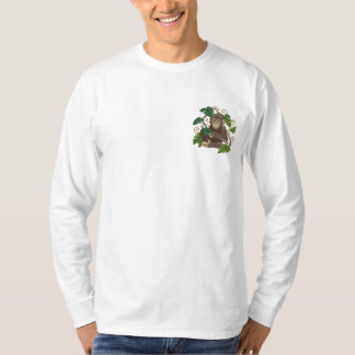 Chimpanzee Jungle Baby Embroidered Long Sleeve T-Shirt
