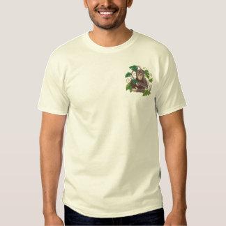 Chimpanzee Jungle Baby Embroidered T-Shirt
